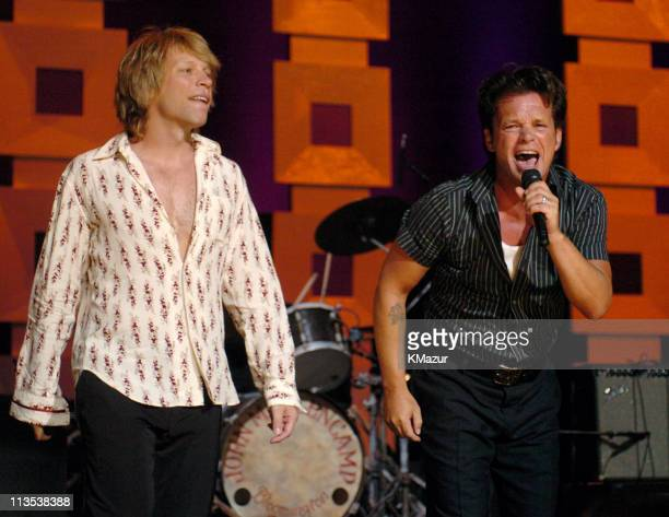 Jon Bon Jovi and John Mellencamp at Radio City Music Hall in New York City for A Change Is Going To Come The Concert for John Kerry on Thursday July...