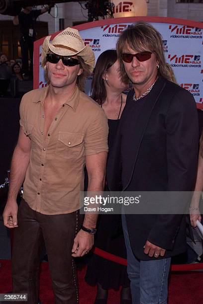 Jon Bon Jovi and Richie Sambora arriving at the 2001 MTV Video Music Awards held at the Metropolitan Opera House at Lincoln Center in New York City...