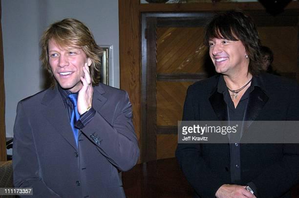 Jon Bon Jovi and Richie Sambora during Shoah Foundation Exclusive Event at Amblin Entertainment on Universal Studios in Universal City California...