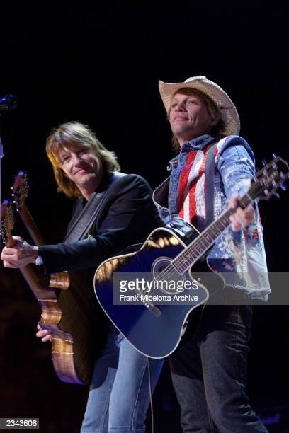 Jon Bon Jovi and Richie Sambora performing at The Concert for New York City at Madison Square Garden in New York City 10/20/01 The show will benefit...