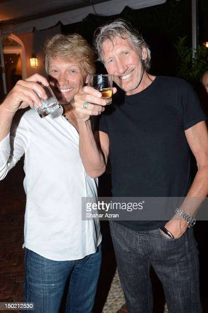 Jon Bon Jovi and Roger Waters attend Apollo In The Hamptons A Night Of Legends at The Creeks on August 11 2012 in East Hampton New York