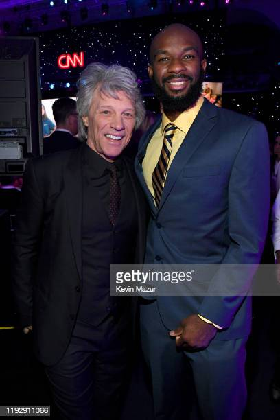 Jon Bon Jovi and Student Athlete Nathan Bain attend CNN Heroes at American Museum of Natural History on December 08, 2019 in New York City.