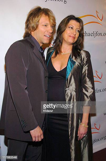 Jon Bon Jovi and wife Dorothea during 'A Funny Thing Happened on the Way to Cure Parkinson's' A Benefit Evening for the Michael J Fox Foundation for...