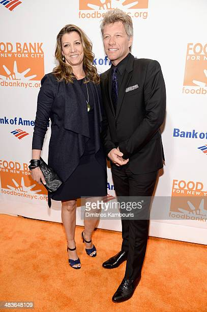 Jon Bon Jovi and wife Dorothea Hurley attend the Food Bank for New York City's Can Do Awards dinner gala on April 9 2014 in New York City