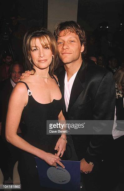 Jon Bon Jovi and wife Dorothea Hurley attend the Gianni Versace Haute Couture Summer 1996 launch on January 20, 1996 in Paris France. C/n 021272