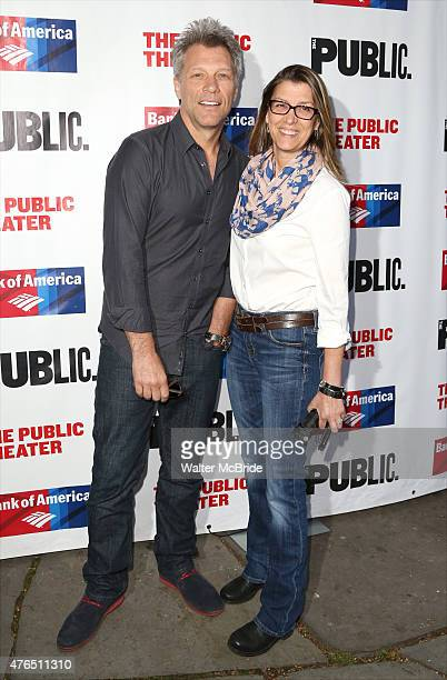 Jon Bon Jovi and wife Dorothea Hurley attend The Public Theater's Annual Gala at the Delacorte Theater on June 9 2015 in New York City
