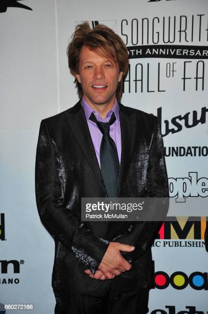 Jon Bon Jovi attends Songwriters Hall of Fame 40th Anniversary Induction Ceremony and Gala at Marriott Marquis Hotel NYC on June 18 2009 in New York...