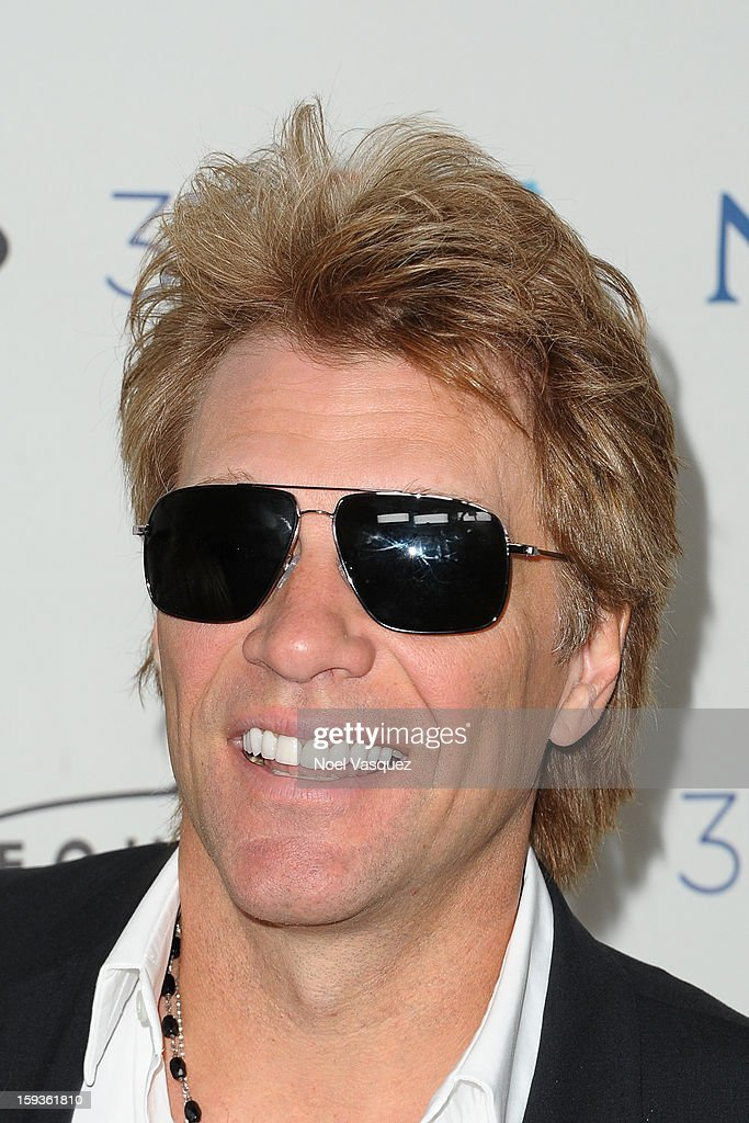 Jon Bon Jovi attends the 'Gold Meets Golden' event hosted at Equinox on January 12, 2013 in Los Angeles, California.