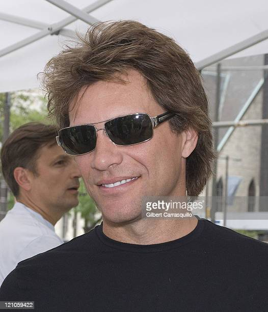 Jon Bon Jovi attends the Philadelphia Soul victory parade and rally after their ArenaBowl XXII championship at City Hall and along the streets of...