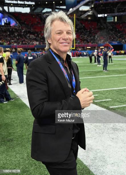 Jon Bon Jovi attends the Super Bowl LIII Pregame at MercedesBenz Stadium on February 3 2019 in Atlanta Georgia