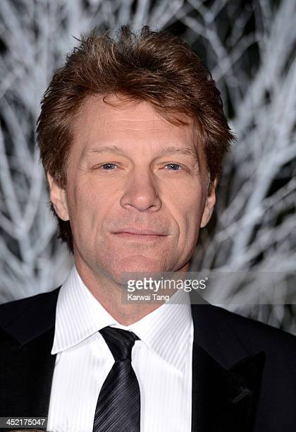 Jon Bon Jovi attends the Winter Whites Gala in aid of Centrepoint at Kensington Palace on November 26 2013 in London England