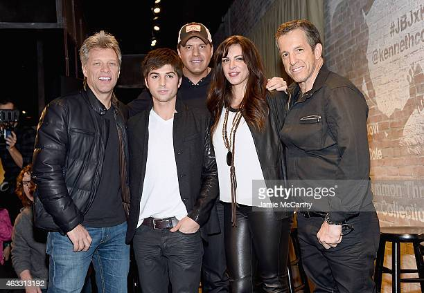 Jon Bon Jovi Cole Redding Rodney AtkinsRose Falcon and Kenneth Cole attend the Jon Bon Jovi Kenneth Cole Curated Acoustic Concert MercedesBenz...