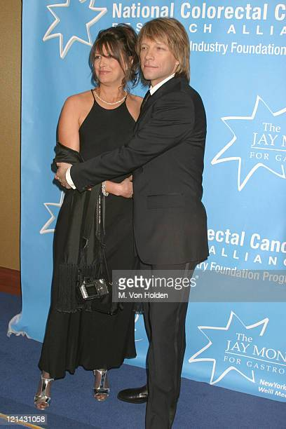 Jon Bon Jovi Dorothea Bon Jovi during Hollywood Hits Broadway EIF's National Colorectal Cancer Research Alliance fundraiser at Queen Mary 2 Pier 92...
