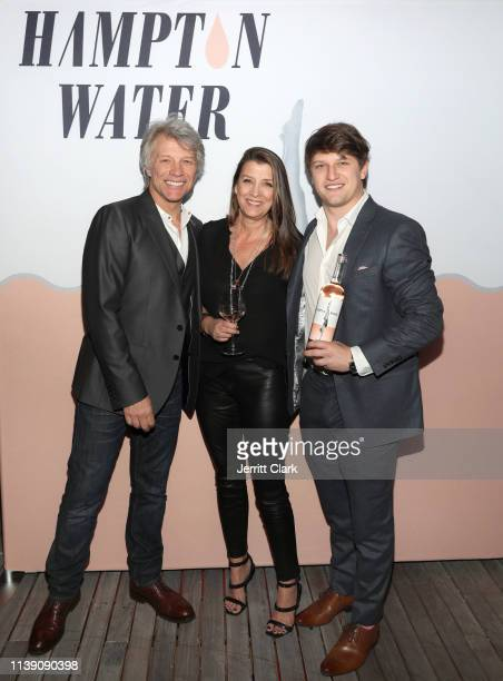 Jon Bon Jovi Dorothea Hurley and Jesse Bongiovi attend the Hampton Water Rosé Celebrates LA Launch at Harriet's Rooftop on March 28 2019 in West...