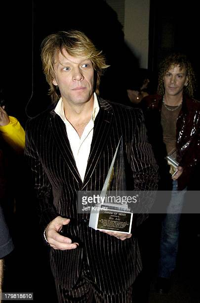 Jon Bon Jovi during 32nd Annual American Music Awards Backstage at Shrine Auditorium in Los Angeles California