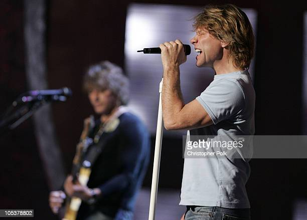 Jon Bon Jovi during 32nd Annual American Music Awards Day Two Rehearsals at Shrine Auditorium in Hollywood CA United States