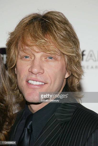 Jon Bon Jovi during amfAR and ACRIA Honor Herb Ritts for His Work and Activism at Sotheby's in New York New York United States