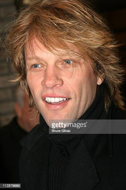 Jon Bon Jovi during Billy Crystal Makes His Broadway Debut in 700 Sundays at The Broadhurst Theater/Tavern on the Green in New York NY United States