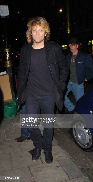 Jon Bon Jovi during Celebrity Sightings at Nobu March 07 2007 at Nobu in London Great Britain