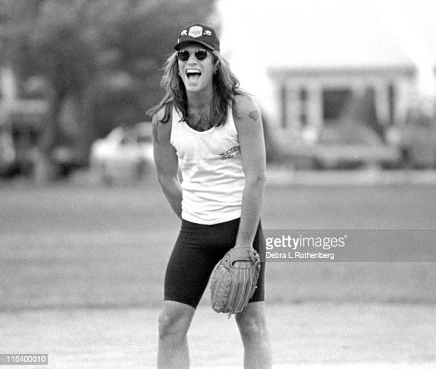 Jon Bon Jovi during Jon Bon Jovi Plays Softball in New Jersey Summer 1987 in Holmdel New Jersey United States