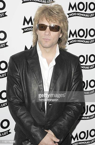 Jon Bon Jovi during Mojo Honours List 2006 – Arrivals at Shoreditch Town Hall in London Great Britain