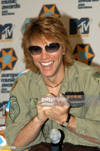 Jon Bon Jovi during MTV European Music Awards Press Conference at Palau Sant Jordi in Barcelona Spain
