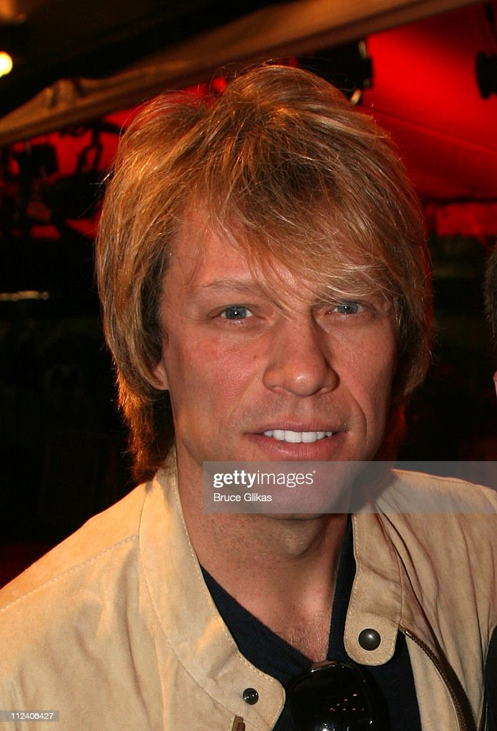 Jon Bon Jovi during 'Rent' Celebrates 10th Anniversary on Broadway - April 24, 2006 at The Nederlander Theater in New York, New York, United States.