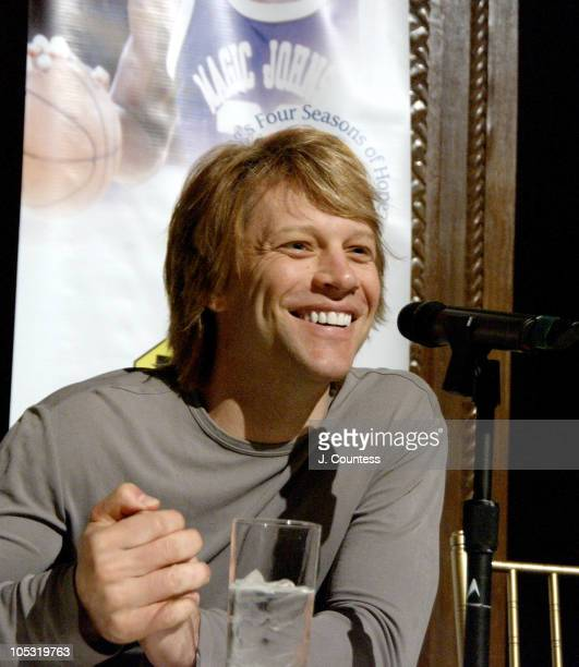 Jon Bon Jovi during Samsung's Four Seasons of Hope Press Conference at Cipriani's in New York City New York United States