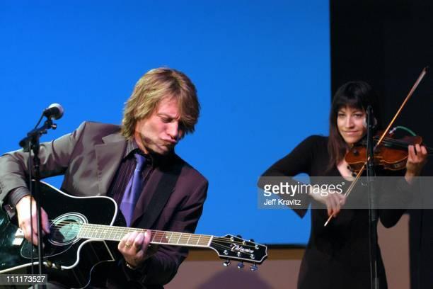 Jon Bon Jovi during Shoah Foundation Exclusive Performance at Amblin Entertainment on Universal Studios in Universal City California United States