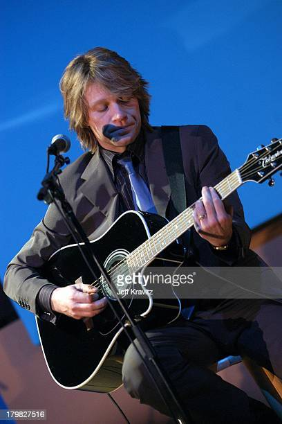 Jon Bon Jovi during Shoah Foundation Exclusive Performance at Amblin Entertainment on Universal Studios in Universal City California United States