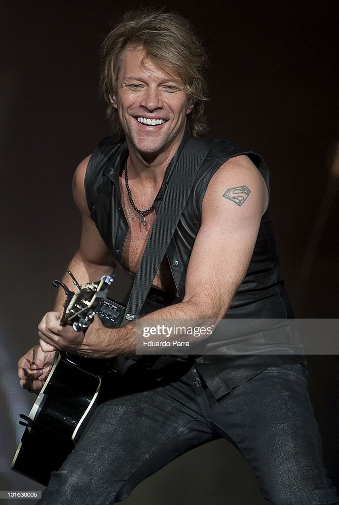 Jon Bon Jovi from the rock band Bon Jovi performs in concert at the Rock in Rio Madrid festival at City of Rock on June 4, 2010 in Arganda del Rey, Spain