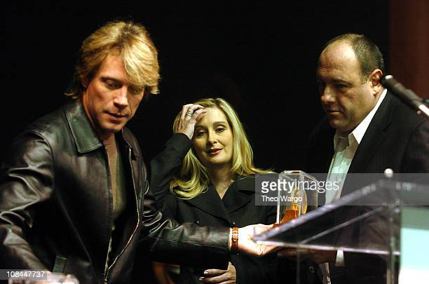 Jon Bon Jovi James Gandolfini and Marcy Gandolfini