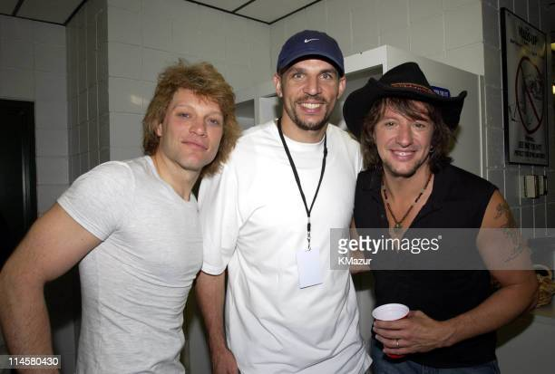 Jon Bon Jovi, Jason Kidd, point guard for the New Jersey Nets, and Richie Sambora