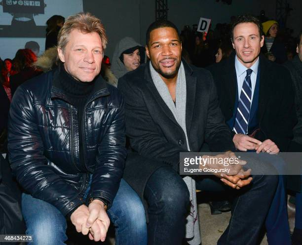 Jon Bon Jovi Michael Strahan and Chris Cuomo attend the Kenneth Cole Collection fashion show during MercedesBenz Fashion Week Fall 2014 at The Garage...