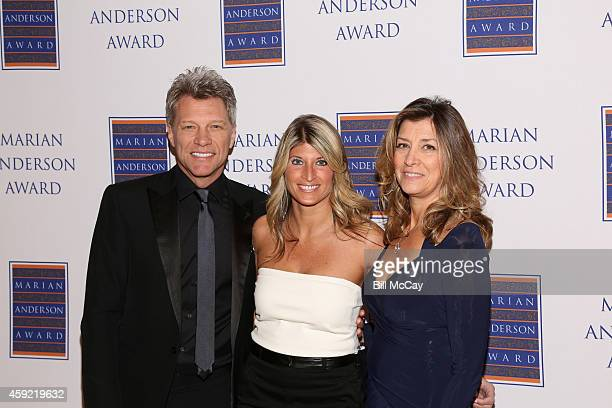 Jon Bon Jovi Nina Tinari board chair of the Marian Anderson Award and Dorothea Bon Jovi attend the 2014 Marian Anderson Awards Gala Honoring Jon Bon...