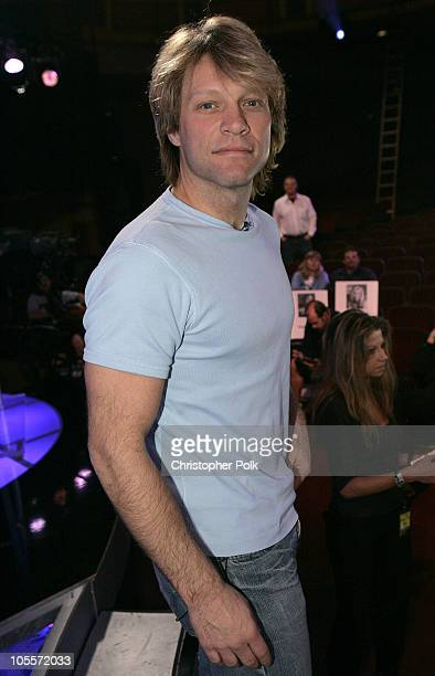 Jon Bon Jovi of Bon Jovi during 32nd Annual American Music Awards Day Two Rehearsals at Shrine Auditorium in Hollywood CA United States