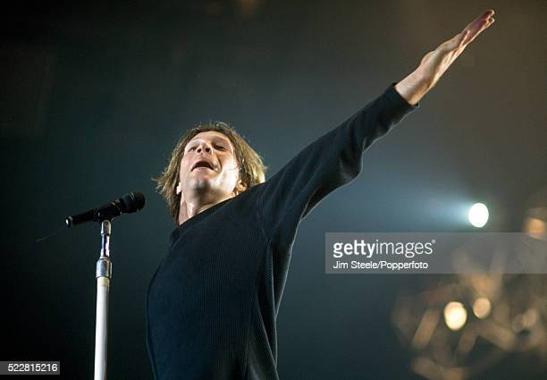 Jon Bon Jovi of Bon Jovi performing on stage at the Wembley Arena in London on the 15th May 1993