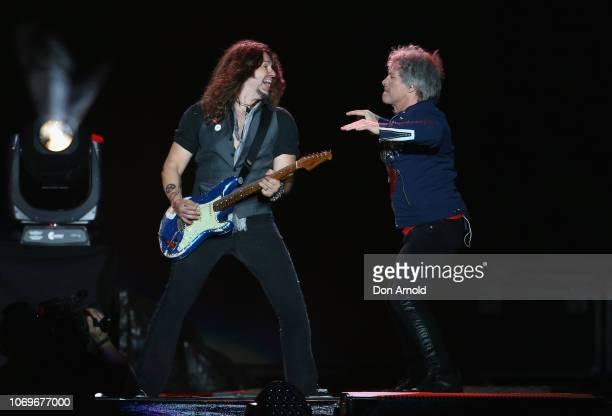 Jon Bon Jovi of Bon Jovi performs at ANZ Stadium on December 8, 2018 in Sydney, Australia.