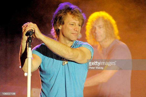 Jon Bon Jovi of Bon Jovi performs on stage at the Limelight on November 04 2010 in Cologne Germany