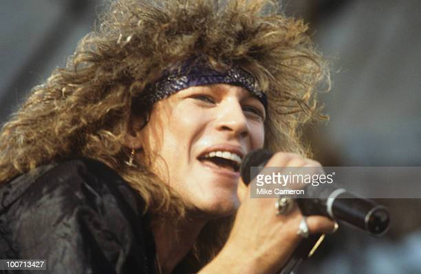 Jon Bon Jovi of Bon Jovi performs on stage circa 1986
