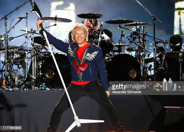 Jon Bon Jovi of the band Bon Jovi performs on stage during Rock In Rio day 3 at Cidade do Rock on September 29 2019 in Rio de Janeiro Brazil