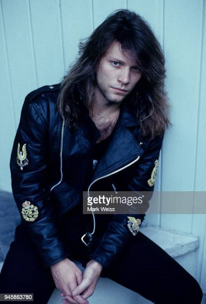 Jon Bon Jovi of the rock group Bon Jovi poses at home in New Jersey in September 1988 in Rumson New Jersey