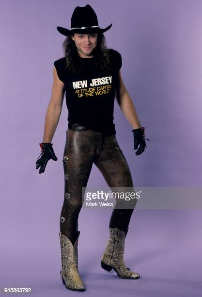Jon Bon Jovi of the rock group Bon Jovi poses for a candid photo in October 1988
