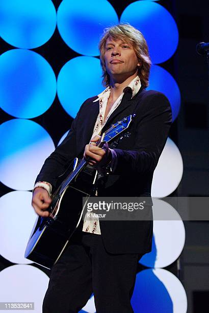 Jon Bon Jovi onstage at Radio City Music Hall in New York City for A Change Is Going To Come The Concert for John Kerry on Thursday July 8 2004 The...