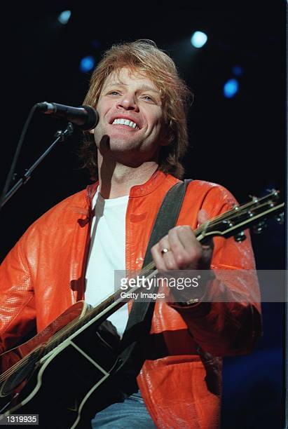 Jon Bon Jovi performs an acoustic set at the KIISFM''s Christmas Jingle Ball concert December 16 2000 at the Shrine Auditorium in Los Angeles CA