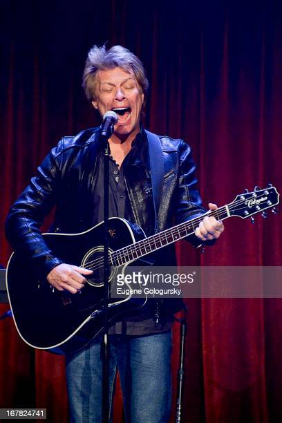Jon Bon Jovi performs at the 2013 Food Bank For New York City Can Do Awards at Cipriani Wall Street on April 30, 2013 in New York City.