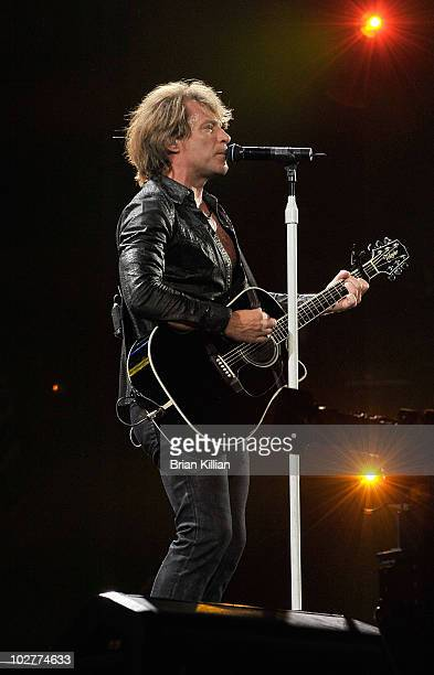 Jon Bon Jovi performs at the New Meadowlands Stadium on July 9, 2010 in East Rutherford, New Jersey.