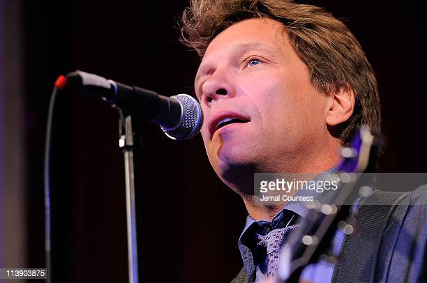 Jon Bon Jovi performs during the Ambassadors for Humanity gala honoring Brian L Roberts to benefit the USC Shoah Foundation Institute on May 9 2011...