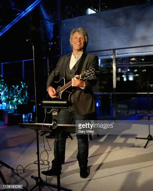 Jon Bon Jovi performs in concert during the KAABOO Texas Welcomes Hampton Water at The Joule Hotel on February 28 2019 in Dallas Texas