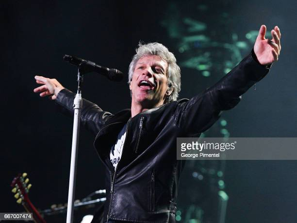 Jon Bon Jovi performs live at the Air Canada Centre on April 10 2017 in Toronto Canada